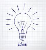 Drawn light bulb — Stock Vector
