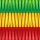 Knitted reggae pattern — Stock Vector