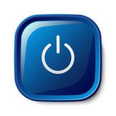 Button power icon — Stock Vector