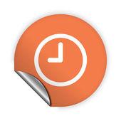 Pictogram klok — Stockvector