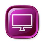 Ikona počítače — Stock vektor