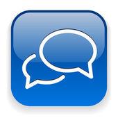 Bericht of chat-pictogram — Stockvector