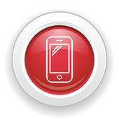 Icona telefono — Vettoriale Stock
