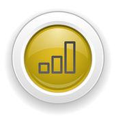 иконка график — Cтоковый вектор