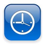 Ikona hodin — Stock vektor