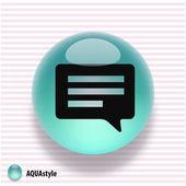 Symbol Nachricht oder chat — Stockvektor