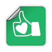 Like icon — Stock Vector