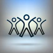 Success team icon — Stock Vector