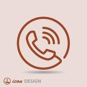 телефонный символ — Cтоковый вектор