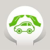 Car care icon — Stock Vector