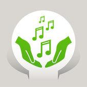 Icono de notas de música — Vector de stock