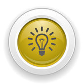 Pictograph of light bulb — Stock Vector