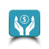 Pieniądze w ręce ikona — Wektor stockowy