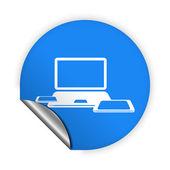 Computer icon — Stock Vector