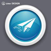 Paper plane icon — Vettoriale Stock