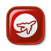Airplane icon — Stock Vector
