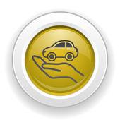 Pictograph van auto — Stockvector