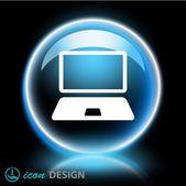 Přenosný počítač ikona — Stock vektor