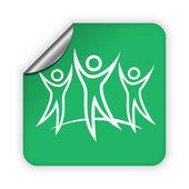 Icono del equipo de éxito — Vector de stock