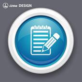 Pencil note icon — Stock Vector