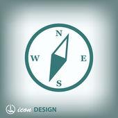 Icono de brújula — Vector de stock