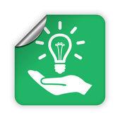 Light bulb icon — Stock Vector