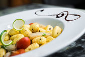 Gnocchi on a plate — Foto de Stock