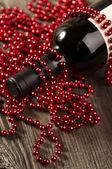 Vinho e pérolas — Fotografia Stock