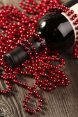 Wine and Pearls — Stock Photo