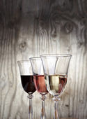 Şarap üç renk — Stok fotoğraf