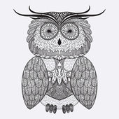 Abstract ornamental owl — Wektor stockowy