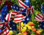 Patriotic Pinwheels — 图库照片