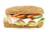 Healthy low fat chicken sandwich — Stock Photo
