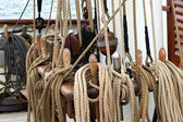 Ropes on a ship — Stock Photo