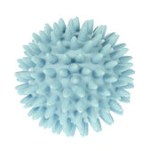 Spikey blue massage ball — Stock Photo