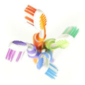 Colorful toothbrushes — Stock Photo