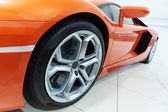 Orange sportscar — Stock Photo