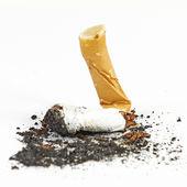 Thrashed cigarette — Stock Photo