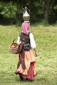 Medieval gypsy woman — Stock Photo