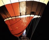 Hot air balloon at night — Stock Photo