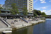 The canals in Malmoe city, Sweden — Stock Photo