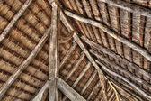 The insite roof of an old scandinavian farm in HDR — Stock Photo