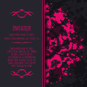 Scary Invitation Card with blots and splatters. — Vetorial Stock