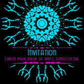 Scary Invitation Card with blots and splatters. — Cтоковый вектор