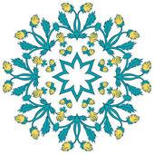 красивый старинный орнамент поздравительной открытки. — Cтоковый вектор