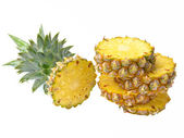 Fresh pineapple isolated on white background — Stock Photo