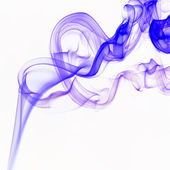 Colorful smoke on the white background — Stock Photo
