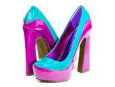 Glamorous women's high heel shoes — 图库照片