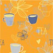 Beautiful tea party background — Stock Vector #51800263