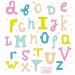 Multicolor hand drawn alphabet — Stock Vector #51800537